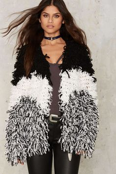 Glamorous Looping You In Shag Cardigan | Shop Clothes at Nasty Gal!