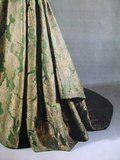 1695-1700 Valdemar Slot Gown - The dress probably belonged to Christine Elizabeth Juel. She was married at Valdemar Castle in 1695, and this gown is said to be her wedding dress. At Valdemar Castle they lived a French inspired court life, and the dress is fashionable continental in style. She was widowed in 1709. http://aneafiles.webs.com/mantua.html