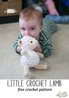 Crochet this cute amigurumi lamb for babies and kids! Perfect nursery baby shower gift and so fast to make, free crochet pattern