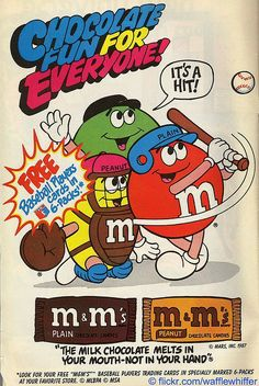 Old M&M advertisement