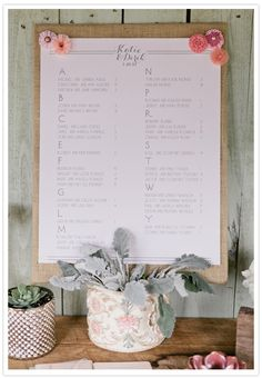 Rustic style wedding seating chart | SocialTables.com | Event Planning Software