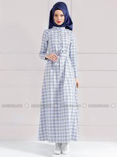 Checkered Dress - Blue - Refka