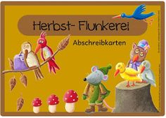 Ideenreise: Abschreibkarten: Herbst- Flunkerei