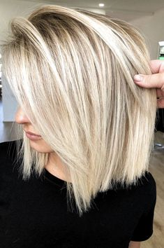 Cute-Blonde-Hairstyle Best Pics of Short Straight Blonde Hair Hair inspiration – Hair Models-Hair Styles Short Straight Hair, Straight Hairstyles, Blonde Bob Hairstyles, Summer Hairstyles, Modern Bob Hairstyles, Summer Haircuts, School Hairstyles, Fancy Hairstyles, Pixie Haircuts