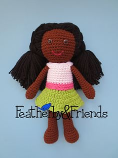 Tessa - Big Sister Doll - Crochet Pattern by Alicia Moore of Featherby & Friends