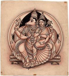 Lord Vishnu Ji In Hayagreeva Avtar