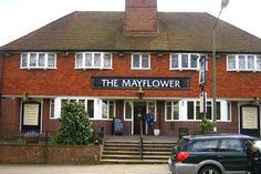 The Mayflower, formerly the Pilgrim and then the Golden Eagle, America Lane, Haywards Heath.  Now a Morrisons supermarket.