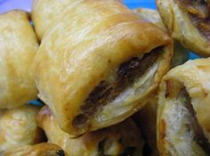 Sausage Rolls from Food.com. One of my favourite things from home!! Haven't tried this recipe, mind you.