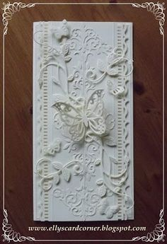 Have to try w Cricut  Ellys Card Corner vines, whimsy stamps, butterfly Martha Stewart