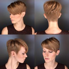 The pixie cut is versatility.Need to find pixie cuts and pixie hairstyles inspiration?Click our list of 80 trending pixie haircuts for women now. Short Pixie Haircuts, Pixie Hairstyles, Short Hair Cuts, Straight Hairstyles, Short Hair Styles, Best Pixie Cuts, Blonde Pixie Cuts, Layered Pixie Cut, Long Layered