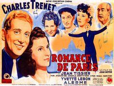 Romance de Paris de Jean Boyer Vigan, Romance, Charles Trenet, E Bay, Poster Prints, Cinema, French, Youtube, Movies