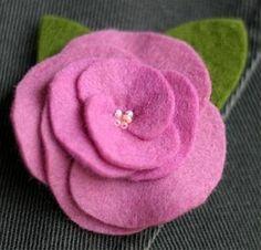 Roos maken van lapje vilt » Hobby