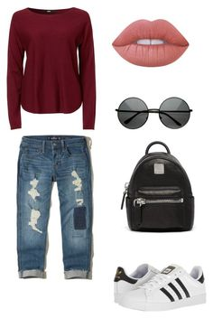"""""""Untitled #224"""" by xolafkax on Polyvore featuring Hollister Co., adidas, MCM and Lime Crime"""