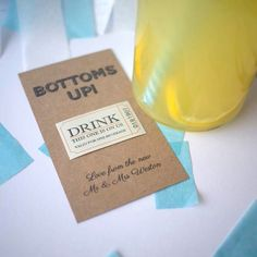 10 personalised single drink token voucher by SixpencePaperie