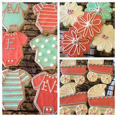Girl's Baby Shower Cookies. $28.00, via Etsy.