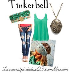 """""""Beach Boho: Tink"""" by loveandpixiedust on Polyvore"""
