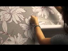 How to install Woven Peel & Stick wallpaper | Spoonflower