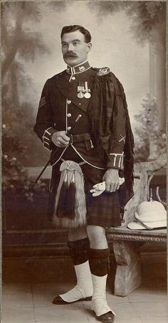 Sergeant of the Gordon Highlanders kilt. Possibly a relative of mine-Aye, Gordon Highlanders.