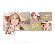 Facebook Timeline Cover Senior Graduation Photoshop Template on Etsy, $7.00