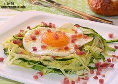 Espaguetis De Calabacín Con Huevo Y Jamón | Gastronomía & Cía