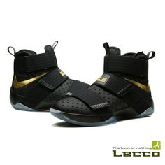 Обувь Кроссовки Nike Lebron 10 Soldier Black/Gold