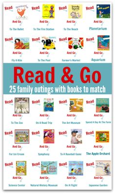 What a rad idea - books to match up with family outings.