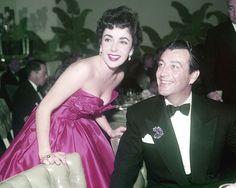 Elizabeth Taylor and Robert Taylor