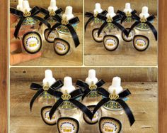 12 Little Prince Baby Shower Favors   Little Prince Baby Shower Black And Gold  Baby Shower  Royal Prince Baby Shower  Black And Gold Bottle