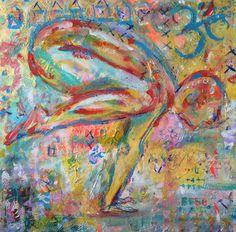 Bakasana I Antonia Thompson, acrylic on canvas