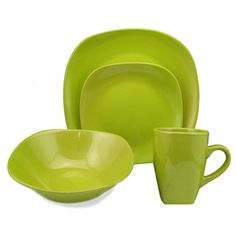 @Overstock.com.com - Lorren Home Trend 'Green' 16-piece Square Stoneware Dinnerware Set - Add a charming element to your table setting with this 16-piece dinnerware set from Lorren Home Trend. This elegant and stylish set highlights a vivid green color palette and a durable stoneware construction.  http://www.overstock.com/Home-Garden/Lorren-Home-Trend-Green-16-piece-Square-Stoneware-Dinnerware-Set/7972112/product.html?CID=214117 CAD              66.26