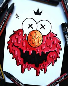 Easy Graffiti Drawings, Trippy Drawings, Art Drawings Sketches Simple, Pencil Art Drawings, Graffiti Words, Cute Doodle Art, Doodle Art Designs, Doodle Art Drawing, Doodle Art Simple