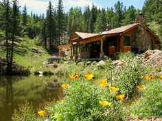 Florissant Cabin Rental: Romantic Mountain Cabin On The Water, Rustic Elegance, Fireplace, Hot Tub & More | HomeAway