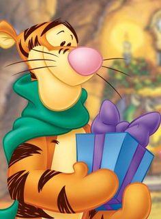 [Winnie the Pooh] Tigger at Christmas Tigger And Pooh, Winne The Pooh, Pooh Bear, Eeyore, Winnie The Pooh Pictures, Winnie The Pooh Quotes, Disney Winnie The Pooh, Tigger Disney, Winnie The Pooh Christmas
