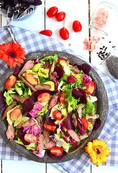 Sałatka z wątróbką i burakami Cobb Salad, Food, Essen, Meals, Yemek, Eten