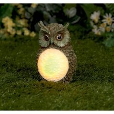 por litle oul - Solar Powered Owl Garden Light (16cm) New