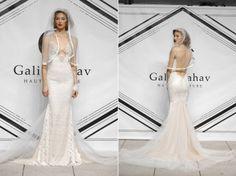 Galia Lahav Fall 2015 blush mermaid wedding dress with a V-neckline