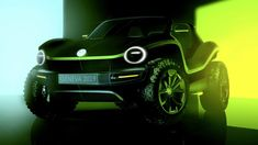 At the 2019 Geneva Motor Show Volkswagen will present an electric buggy concept car inspired from popular American dune buggies of the past. Vw Beach, Beach Buggy, Pismo Beach, Manx, Electric Motor, Electric Cars, Camaro Chevy, Vw Dune Buggy, Dune Buggies