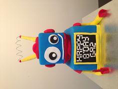 Robot cake for a little boys birthday!