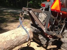 Thee point hitch log drag implement