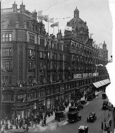 U.K. Harrods during their 75th anniversary, London, 1909