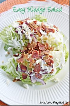 Easy wedge salad