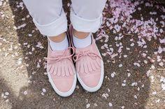 pink zara sneaker