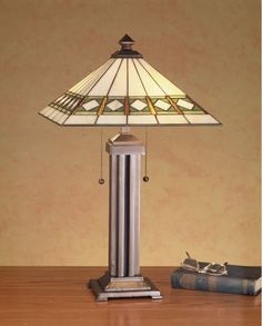 Meyda Tiffany 38689 Craftsman / Mission Table Lamp from the Diamond Mission Coll Mahogany Bronze Lamps Table Lamps Accent Lamps
