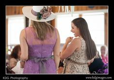 High tea hat from a Maggie Sottero belt.