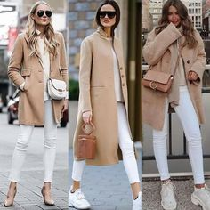 Fashionable Ideas to Wear Trench Coat for Trendy Women – Designers Outfits Col. Mode Outfits, Fall Outfits, Fashion Outfits, Womens Fashion, Classy Outfits, Stylish Outfits, Beige Hose, Camel Coat Outfit, Cooler Look
