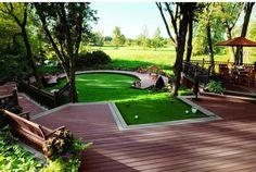 WOW! Now THAT'S my kind of backyard!   Rock Bottom Golf #RockBottomGolf
