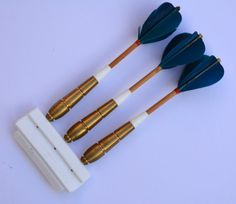 Vintage Set of 34 Gram Unicorn Darts and Feathers by BiminiCricket