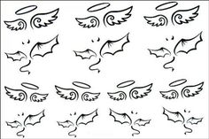 """Tattoo size 6.30""""x6.30"""" Long last realistic temporary tattoo stickers non-toxic and waterproof female models black and white angel wings totem temporary tattoo. Safe and non-toxic design ideal for body art. Professional grade made to last 3 to 5 days and easily transferred by water. Perfect for vacations, girls night, pool parties, bachelorette parties, or any other event you want to look glamorous."""