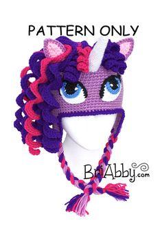Crochet Unicorn/ Pony Hat Pattern by BriAbbyHMA on Etsy, $5.99
