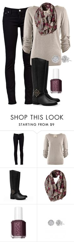 """""""Untitled #248"""" by ohsnapitsalycia ❤ liked on Polyvore featuring Nudie Jeans Co., Friendly Hunting, Tory Burch, Essie and Stella & Dot"""